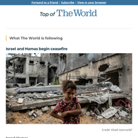 Israel and Hamas begin ceasefire