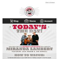 Today at 8PM CT - Watch Miranda Lambert's Exclusive Neighbor's Club Concert