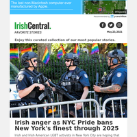 Irish anger as NYC Pride bans New York's finest through 2025