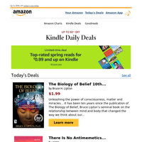 Today Only: Top deals $0.99 and up on Kindle