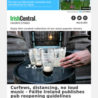 Ireland's pubs reopening guidelines: curfews, distancing, no loud music