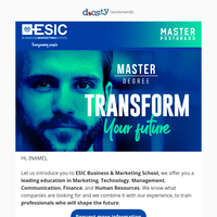 {NAME}, you won't believe what is happening at ESIC!