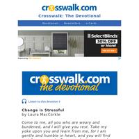 Change is Stressful - Crosswalk the Devotional - May 27