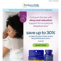 Sleep Sale>> Up to 30% off