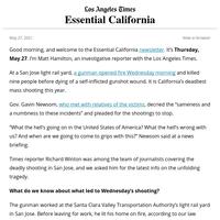 Essential California: A mass shooting in San Jose