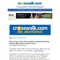 The Great Cost of Freedom - Crosswalk the Devotional - May 28