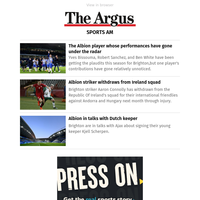 Sports AM: The Albion player whose performances have gone under the radar