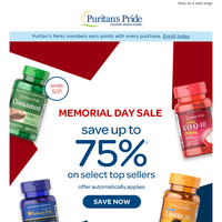 OVER 100 top sellers on sale - Memorial Day Special