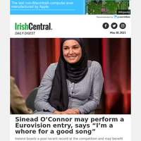 """Sinead O'Connor may perform a Eurovision entry, says """"I'm a whore for a good song"""""""
