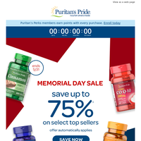 Best of Memorial Day offers- UP TO 75% OFF