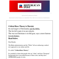 Critical Race Theory Is the 'Anti-Bible'