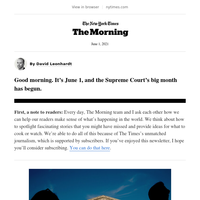 The Morning: The Supreme Court's big month