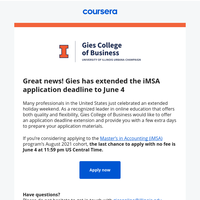 Application deadline extended for Illinois' iMSA program!