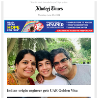 UAE to name best, worst govt agencies; UAE group to pay salary to family of staff who die of Covid; Indian-origin engineer gets UAE Golden Visa