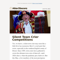 How to win a silent town crier competition