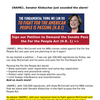 Senator Amy Klobuchar needs your help