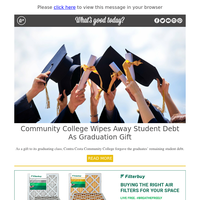 Feel Good Friday: Community College Wipes Away Student Debt as Graduation Gift