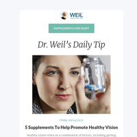 5 Supplements To Help Promote Healthy Vision