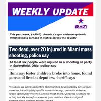 America's gun violence epidemic, #WearOrange, & Team ENOUGH Tour!