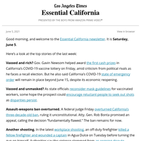 Essential California Week in Review: Vaxxed and rich?