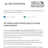 The Evening Wrap: G7 reaches historic deal to tax big MNCs