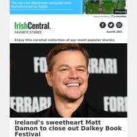 Ireland's sweetheart Matt Damon to close out Dalkey Book Festival