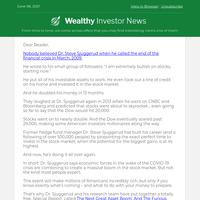 "Millionaire Finance PhD Warns of Stock Market ""Panic"".   5 June"