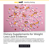 Dietary Supplements for Weight Loss Lack Evidence, Research Suggests