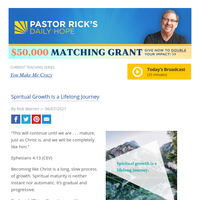 Spiritual Growth Is a Lifelong Journey