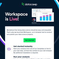 You've got access to Workspace!