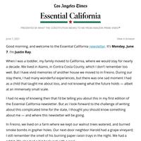 Essential California: Meet your new newsletter writer