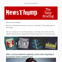 Your NewsThump Daily Briefing for Mon, 07 Jun