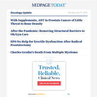 With Supplements, ADT in Prostate Cancer of Little Threat to Bone Density