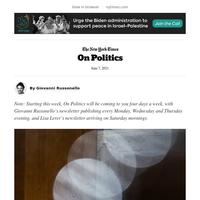 On Politics: Manchin's bipartisan ultimatum