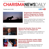 Progressive Christians Are Wolves Disguised as Sheep, Devouring the Church From Within   Democrat Senator Vows to Vote Against 'For...