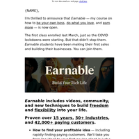 Create a 2nd income (Earnable is now open)