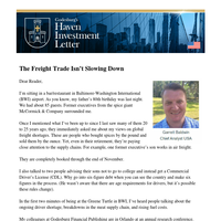 The Freight Trade Isn't Slowing Down