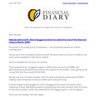 "Millionaire Finance PhD Warns of Stock Market ""Panic"".   8 June"