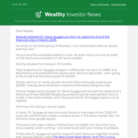 "Millionaire Finance PhD Warns of Stock Market ""Panic""...   8 June"