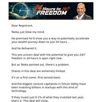 RECAP of 24 Hours to 24/7 Freedom