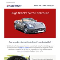 Ever wondered what Hugh Grant's car looks like?