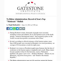 To Biden Administration: Record of Iran's Top \