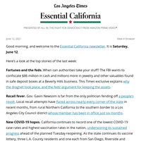 Essential California Week in Review: Fortunes and the feds