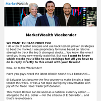Weekender: Bitcoin as Legal Tender and 2 Hot Energy Stocks for Summer