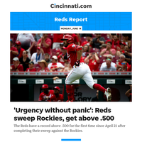 Reds Report:'Urgency without panic': Reds sweep Rockies, get above .500