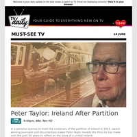Don't miss: Peter Taylor: Ireland After Partition at 9:00pm on BBC Two HD