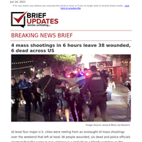 June 14 | 4 mass shootings in 6 hours leave 38 wounded, 6 dead across US