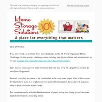 Organize Email & Other Digital Information: Week #24 of 52 Week Organized Home Challenge