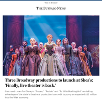 Three Broadway productions to launch at Shea's: 'Finally, live theater is back.'