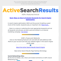 Featured Article - Active Search Results (ASR) Search Engine